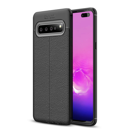 Olixar Attache Samsung Galaxy S10 5G Leather-Style Case - Black