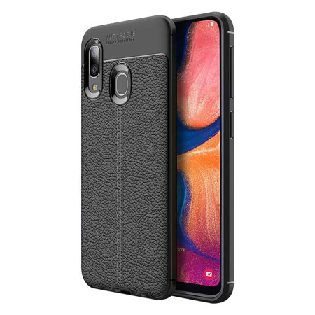 Olixar Attache Samsung Galaxy A20 Leather-Style Case - Black