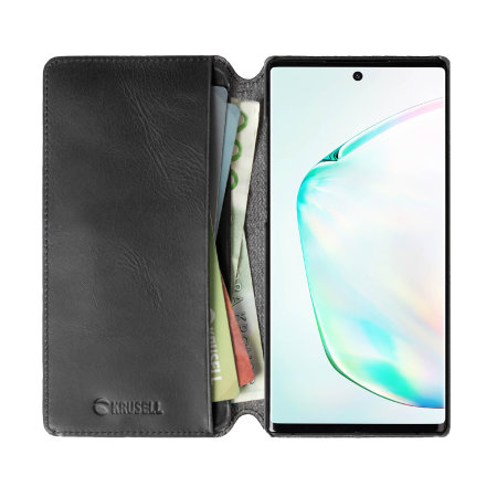 Krusell Samsung Galaxy Note 10 Plus Leather Wallet Case- Vintage Black