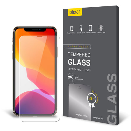 Olixar iPhone 11 Pro Max Case Compatible Glass Screen Protector