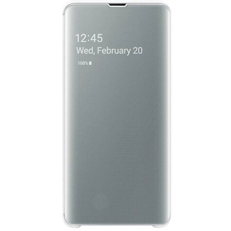 Official Samsung Galaxy S10 5G Clear View Cover Case - White