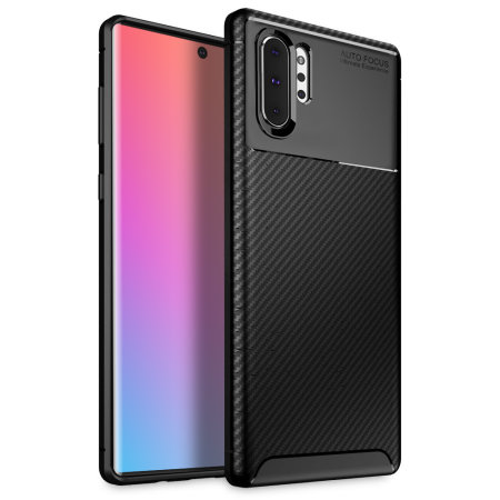 Olixar Carbon Fibre Samsung Galaxy Note 10 Plus Case - Black