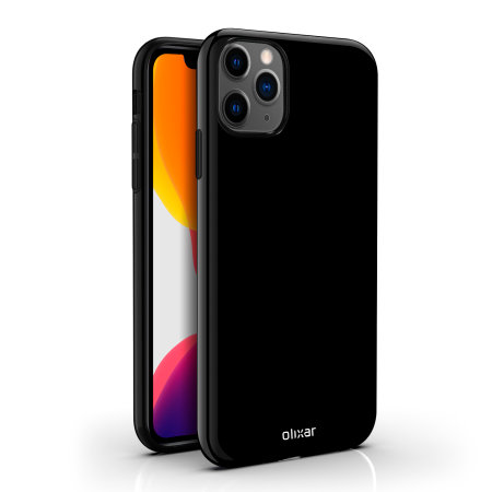 Olixar FlexiShield iPhone 11 Pro Max Gel Case - Solid Black