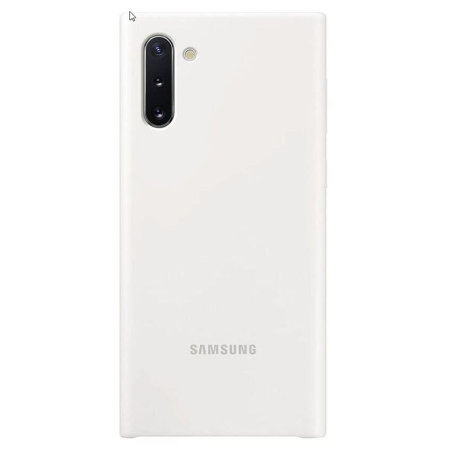 Official Samsung Galaxy Note 10 Silicone Cover - White