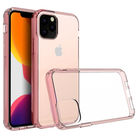 Olixar ExoShield Tough iPhone 11 Pro Max Case  - Rose Gold / Clear
