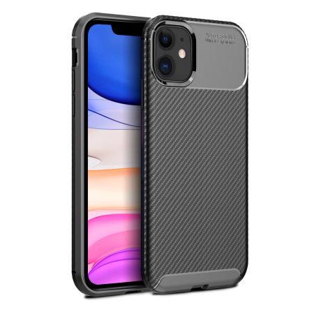 Olixar Carbon Fibre Apple iPhone 11 Case - Black