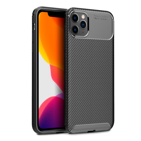 Olixar Carbon Fibre iPhone 11 Pro Max Case - Zwart