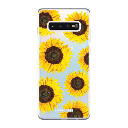 LoveCases Samsung S10 Sunflower Clear Phone Case