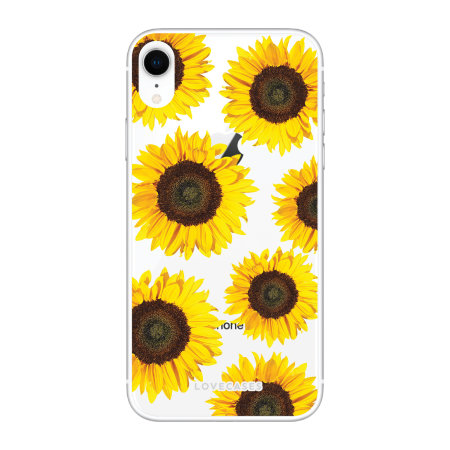 LoveCases iPhone XR Sunflower Clear Phone Case