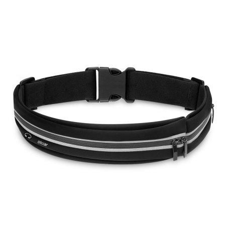Cinturón con bolsillo Olixar Ultra Slim Universal para Running - Negro