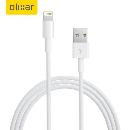 Olixar iPhone XR Lightning to USB Charging Cable - White 1m