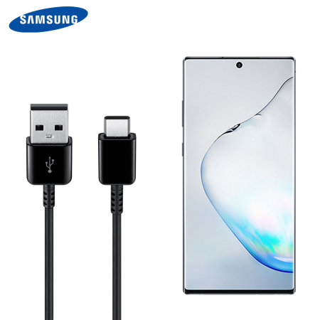 Official Samsung Note 10 USB-C Charging & Sync Cable - Black - 1.5m