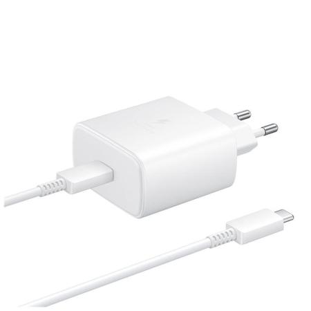 Official Samsung PD 45W Fast Wall Charger - EU Plug - White