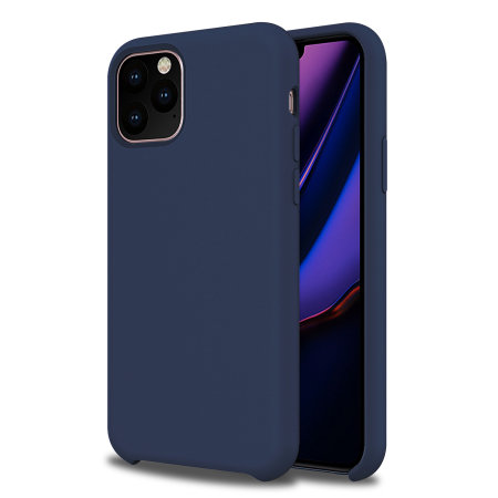 Olixar Soft Silicone iPhone 11 Pro Case - Midnight Blue