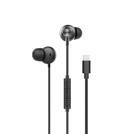 Forever Music Soul Type-C Earphones with Microphone - Black