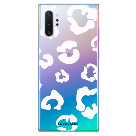LoveCases Samsung Note 10 Plus Leopard Print Case - Clear White