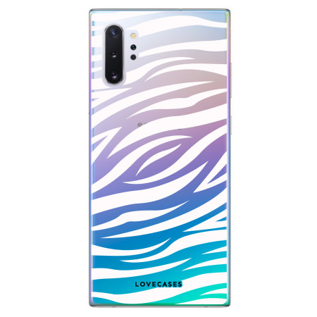 LoveCases Samsung Note 10 Plus Zebra Phone Case - Clear White