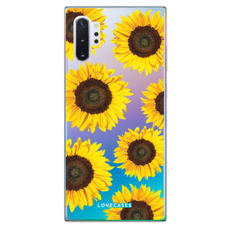 LoveCases Samsung Note 10 Plus Sunflower Phone Case - Clear Yellow
