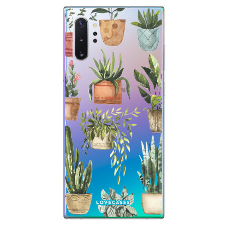 LoveCases Samsung Note 10 Plus Plant Phone Case - Clear Multi