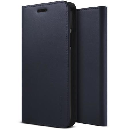 VRS Design Genuine Leather Diary iPhone 11 Pro Case - Navy