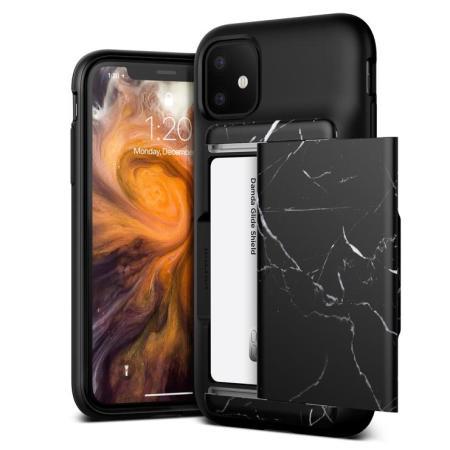 VRS Design Damda Glide Shield iPhone 11 Case - Black Marble