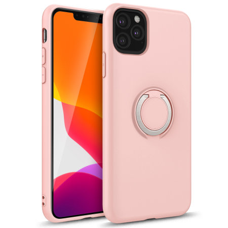 Zizo Revolve Series iPhone 11 Pro Ultra Thin Ring Case - Rose Quartz