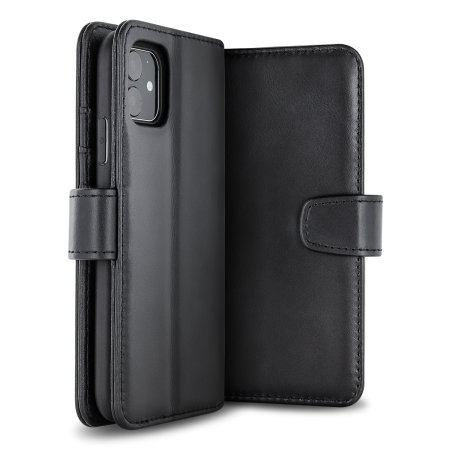Olixar Genuine Leather iPhone 11 Wallet Case - Black