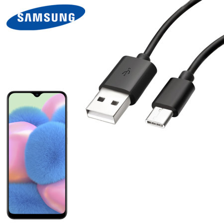 Official Samsung A30s USB C Charge & Sync Cable 1.2m Black