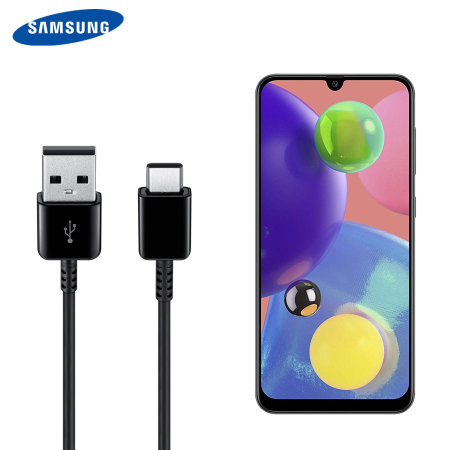 Official Samsung A30s USB-C Charging & Sync Cable - Black - 1.5m