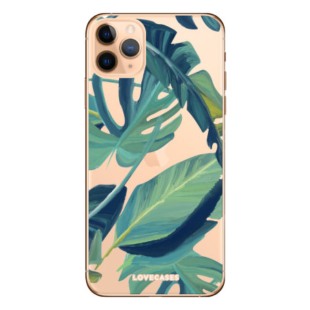 LoveCases iPhone 11 Pro Tropical Phone Case - Clear Green