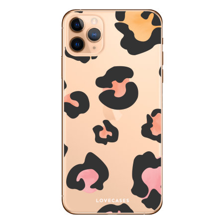 LoveCases iPhone 11 Pro Coloured Leopard Print Case - Clear