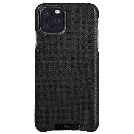 Vaja Grip iPhone 11 Pro Max Premium Leather Case - Pointille Black