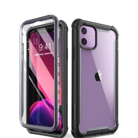 i-Blason Ares iPhone 11 Bumper Case And Screen Protector - Black