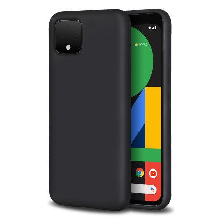 Olixar Soft Silicone Google Pixel 4 XL Case - Black