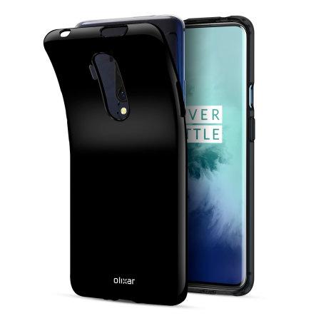 Olixar FlexiShield OnePlus 7T Pro Gel Case - Solid Black