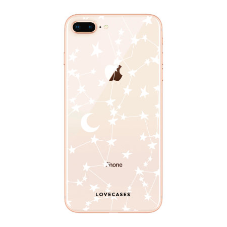 LoveCases iPhone 7 Gel Case - White Stars And Moons