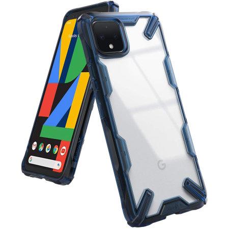 Ringke Fusion X Google Pixel 4 XL Tough Case - Space Blue