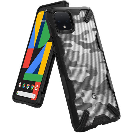 Ringke Fusion X Design Google Pixel 4 XL Tough Case - Camo Black
