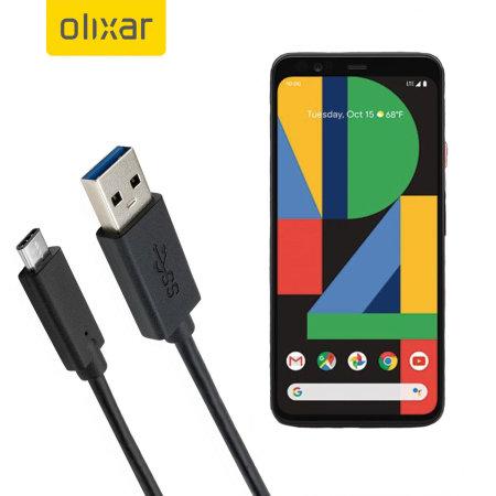 Olixar USB-C Google Pixel 4 XL Charging Cable - Black 1m