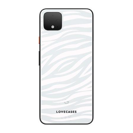 LoveCases Google Pixel 4 Gel Case - Zebra