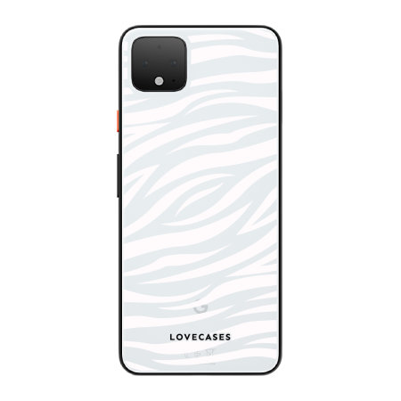 LoveCases Google Pixel 4 XL Zebra Phone Case - Clear White