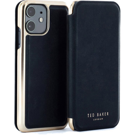 Ted Baker Folio iPhone 11 Flip Mirror Case - Shannon Black