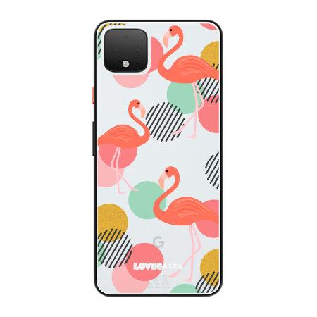LoveCases Google Pixel 4 XL Flamingo Clear Phone Case