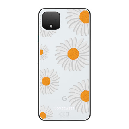 LoveCases Google Pixel 4 Gel Case - Daisy