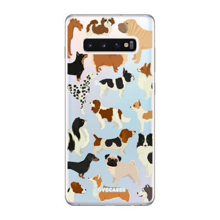 LoveCases Samsung S10 Dogs Clear Phone Case