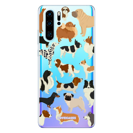 LoveCases Huawei P30 Pro Dogs Clear Phone Case