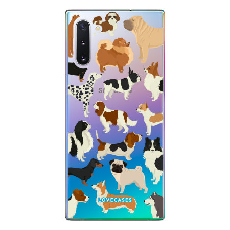 LoveCases Samsung Note 10 Dogs Clear Phone Case