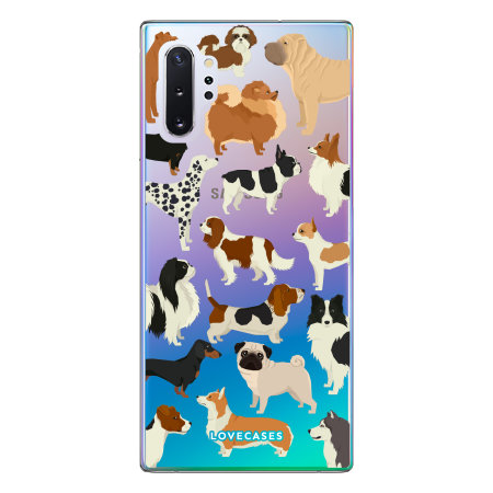 LoveCases Samsung Note 10 Plus Dogs Clear Phone Case