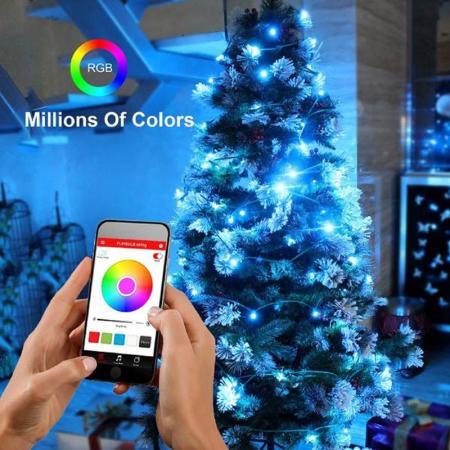 Mipow Playbulb Smart Led Christmas Tree Lights 10m Uk Plug