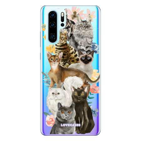 LoveCases Huawei P30 Pro Cats Clear Phone Case